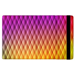 Triangle Plaid Chevron Wave Pink Purple Yellow Rainbow Apple Ipad 2 Flip Case by Mariart