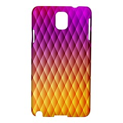 Triangle Plaid Chevron Wave Pink Purple Yellow Rainbow Samsung Galaxy Note 3 N9005 Hardshell Case by Mariart