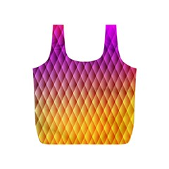 Triangle Plaid Chevron Wave Pink Purple Yellow Rainbow Full Print Recycle Bags (s)  by Mariart
