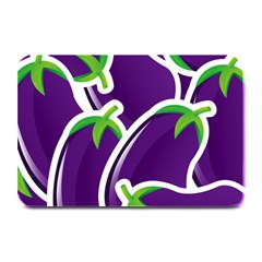 Vegetable Eggplant Purple Green Plate Mats by Mariart