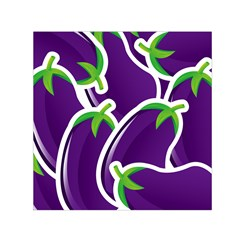 Vegetable Eggplant Purple Green Small Satin Scarf (square) by Mariart