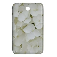 Hydrangea Flowers Blossom White Floral Photography Elegant Bridal Chic  Samsung Galaxy Tab 3 (7 ) P3200 Hardshell Case  by yoursparklingshop