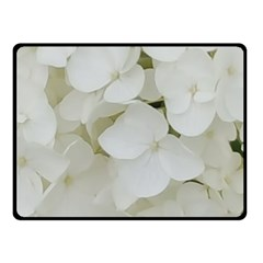 Hydrangea Flowers Blossom White Floral Photography Elegant Bridal Chic  Double Sided Fleece Blanket (small)  by yoursparklingshop