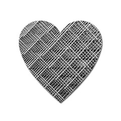 Pattern Metal Pipes Grid Heart Magnet by Nexatart