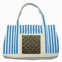 Pattern Metal Pipes Grid Striped Blue Tote Bag by Nexatart
