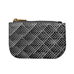 Pattern Metal Pipes Grid Mini Coin Purses by Nexatart