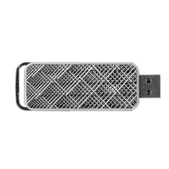Pattern Metal Pipes Grid Portable Usb Flash (one Side) by Nexatart
