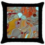 Liquid Bubbles Throw Pillow Case (Black)