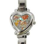 Liquid Bubbles Heart Italian Charm Watch