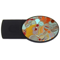 Liquid Bubbles Usb Flash Drive Oval (4 Gb) by theunrulyartist