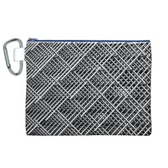 Pattern Metal Pipes Grid Canvas Cosmetic Bag (xl) by Nexatart