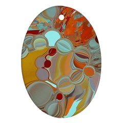 Liquid Bubbles Oval Ornament (two Sides) by theunrulyartist