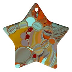 Liquid Bubbles Star Ornament (two Sides) by theunrulyartist