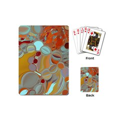 Liquid Bubbles Playing Cards (mini)  by theunrulyartist