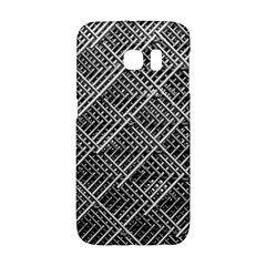 Pattern Metal Pipes Grid Galaxy S6 Edge by Nexatart