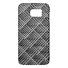 Pattern Metal Pipes Grid Galaxy S6 by Nexatart