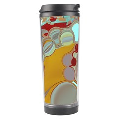Liquid Bubbles Travel Tumbler by theunrulyartist