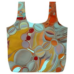 Liquid Bubbles Full Print Recycle Bags (l)  by theunrulyartist