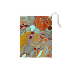Liquid Bubbles Drawstring Pouches (small)  by theunrulyartist