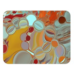 Liquid Bubbles Double Sided Flano Blanket (large)  by theunrulyartist