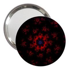 Fractal Abstract Blossom Bloom Red 3  Handbag Mirrors by Nexatart