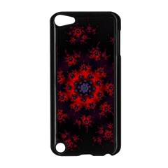 Fractal Abstract Blossom Bloom Red Apple Ipod Touch 5 Case (black) by Nexatart