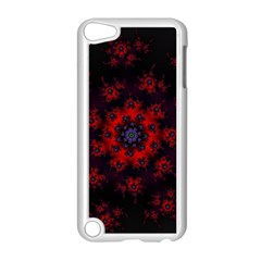 Fractal Abstract Blossom Bloom Red Apple Ipod Touch 5 Case (white) by Nexatart