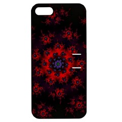 Fractal Abstract Blossom Bloom Red Apple Iphone 5 Hardshell Case With Stand by Nexatart