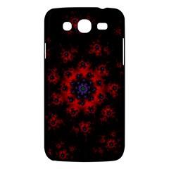 Fractal Abstract Blossom Bloom Red Samsung Galaxy Mega 5 8 I9152 Hardshell Case  by Nexatart