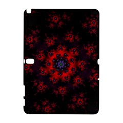Fractal Abstract Blossom Bloom Red Galaxy Note 1 by Nexatart