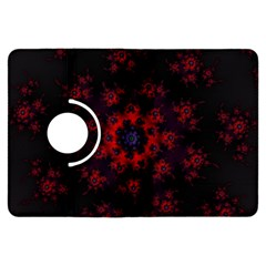 Fractal Abstract Blossom Bloom Red Kindle Fire Hdx Flip 360 Case by Nexatart