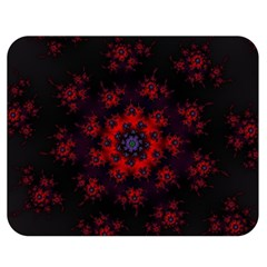 Fractal Abstract Blossom Bloom Red Double Sided Flano Blanket (medium)  by Nexatart