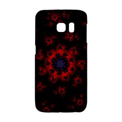 Fractal Abstract Blossom Bloom Red Galaxy S6 Edge by Nexatart