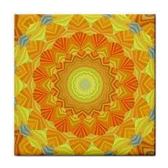 Sunshine Sunny Sun Abstract Yellow Tile Coasters by Nexatart