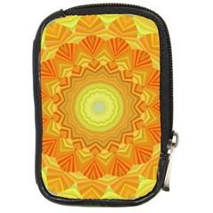 Sunshine Sunny Sun Abstract Yellow Compact Camera Cases by Nexatart