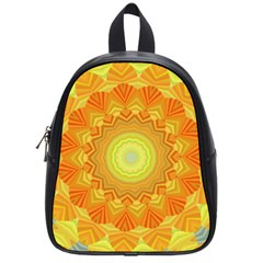 Sunshine Sunny Sun Abstract Yellow School Bags (small)  by Nexatart