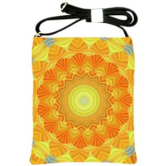 Sunshine Sunny Sun Abstract Yellow Shoulder Sling Bags by Nexatart