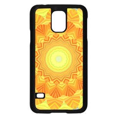 Sunshine Sunny Sun Abstract Yellow Samsung Galaxy S5 Case (black) by Nexatart