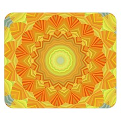 Sunshine Sunny Sun Abstract Yellow Double Sided Flano Blanket (small)  by Nexatart