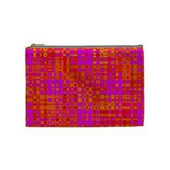 Pink Orange Bright Abstract Cosmetic Bag (medium)  by Nexatart