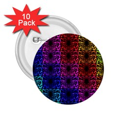 Rainbow Grid Form Abstract 2 25  Buttons (10 Pack)  by Nexatart