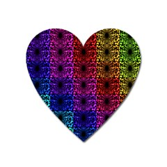 Rainbow Grid Form Abstract Heart Magnet by Nexatart