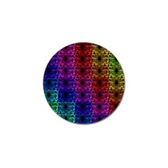 Rainbow Grid Form Abstract Golf Ball Marker (10 Pack) by Nexatart
