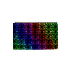 Rainbow Grid Form Abstract Cosmetic Bag (small)  by Nexatart