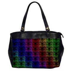 Rainbow Grid Form Abstract Office Handbags by Nexatart