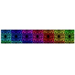 Rainbow Grid Form Abstract Flano Scarf (large) by Nexatart