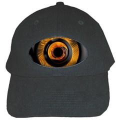 Fractal Pattern Black Cap by Nexatart