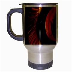 Fractal Pattern Travel Mug (silver Gray) by Nexatart