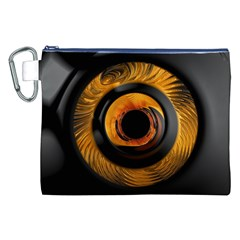 Fractal Pattern Canvas Cosmetic Bag (xxl) by Nexatart