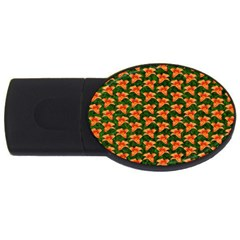 Background Wallpaper Flowers Green Usb Flash Drive Oval (4 Gb) by Nexatart